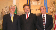 Consul General of Hungary, Ambassador Dr. Gabor Horvath, Zoltan Somogyi, and Peter Gomori
